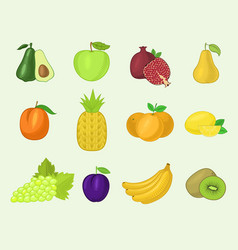Fruits vegetables healthy nutrition fruity vector