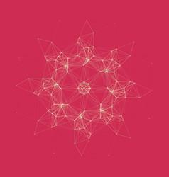 geometric pattern consist polygonal element vector image
