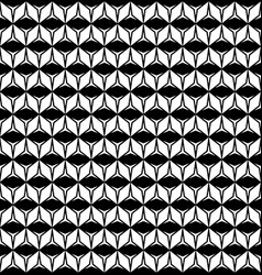 geometric texture with rhombuses triangles rows vector image