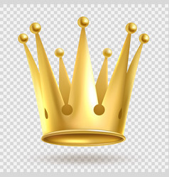 golden crown elegant gold metal royal crowning on vector image