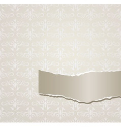 Gray background with torn paper vector