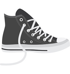 Grey sneakers vector image