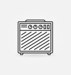 Guitar amplifier icon in thin line style vector