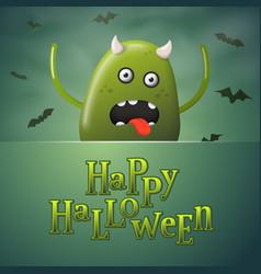 halloween concept cartoon realistic monster vector image