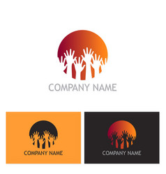 hands up community logo vector image