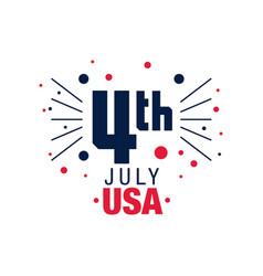 Happy 4th july original emblem american vector