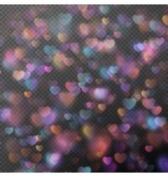Hearts bokeh as effect EPS 10 vector