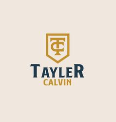 Initial tc ct c t monogam emblem logo template vector