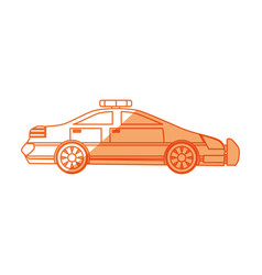 Isolated police car vector