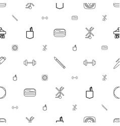 Isometric icons pattern seamless white background vector