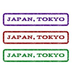 japan tokyo watermark stamp vector image
