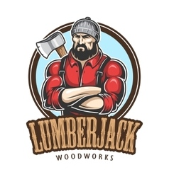 Lumberjack emblem vector