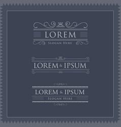 luxury logos template flourishes calligraphy vector image