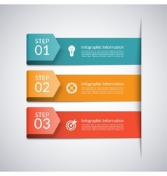 Modern arrow template for business infographics vector image