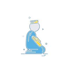 muslim prayer icon design vector image