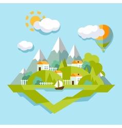 Nature landscape Colorful vector image