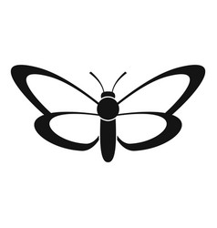 Nice butterfly icon simple style vector