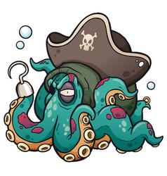 Pirate octopus vector