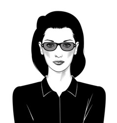 portrait a business woman a female boss vector image