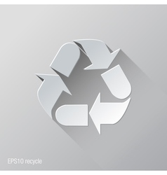 Recycle Flat Icon Design vector image