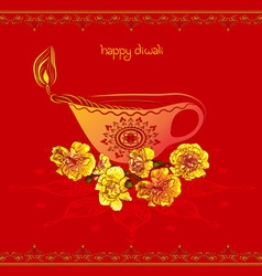 Red Happy Diwali Design vector image