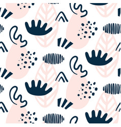 Scandinavian hand drawn seamless pattern vector