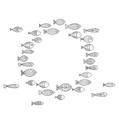 School of fish a group of stylized fish swimming vector