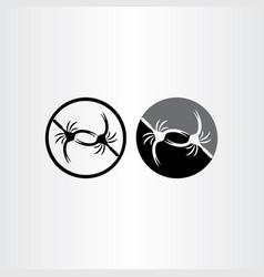 scorpions fight icon design vector image