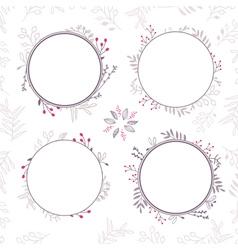 Set of floral frames in brown colors 02 vector