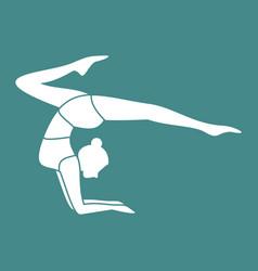 silhouette of gymnastic pose yoga posture vector image