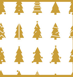 simple christmas seamless pattern with christmas vector image