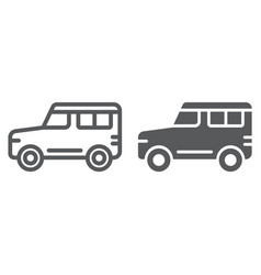 suv line and glyph icon transport and auto car vector image