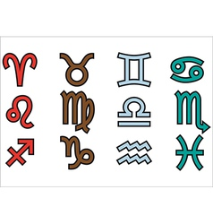 Symbols of zodiak vector