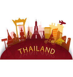 thailand travel famous landmarks vector image