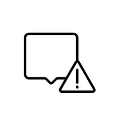 Thin line chat comment attention icon vector