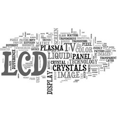 what is an lcd tv text word cloud concept vector image