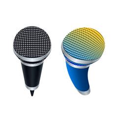 Wireless microphones vector