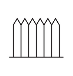 Wooden fence linear icon vector
