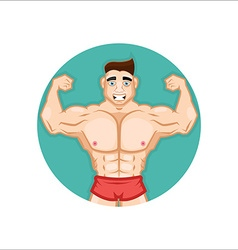 Bodybuilding Coach vector image