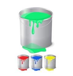 bucket with paint vector image vector image