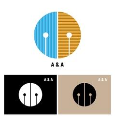 Creative alphabet a and a letter logo vector