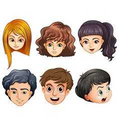 Six heads vector image