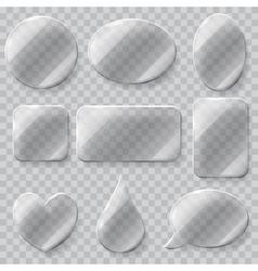 Transparent glass plates vector