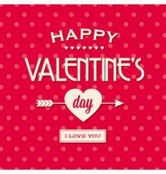 Happy valentines day card retro vintage vector image vector image