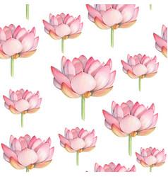 lotus watercolor seamless pattern vector image vector image