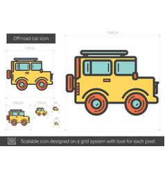 Off-road car line icon vector