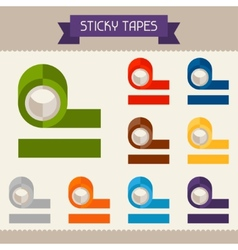 Sticky tapes colored templates for your design in vector image vector image