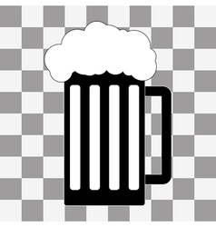 black beer icon on a transparent vector image vector image