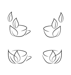 cups icons vector image vector image