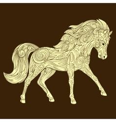 Horse ornament ethnic vector